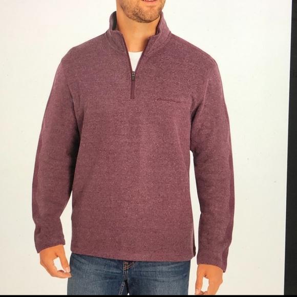 Eddie Bauer Quarter Zip pullover NWT